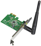 ASUS Wireless-N Network Adapter (150Mbps Transmit 150Mbps Receive) with PCI-E Interface, Include Full Height and Low Profile bracket, WPS Button Support | PCE-N10