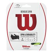 Wilson Tennis Racket String, Revolve Spin, 12.2 m, Green, 1.25 mm, Unisex, WRZ956900