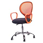 HIZLJJ Office Chair Mesh Chair Computer Ergonomic Chair Wide Seat Executive Desk Task Rolling Swivel Chair with Lumbar Support Adjustable Arms Color : Black