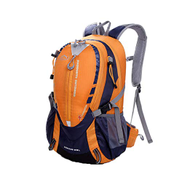 YTS Outdoor Travel Backpack, Portable Collapsible Nylon Durable Tear-resistant Waterproof Mountaineering Bag Color : Orange, Size : 30 19 45cm