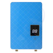 FYLD Electric Water Heater,Rapid heating Ready-to-use, 1.5KW 50HZ Waterproof levelIpx4 13 8 2 inch -Suitable for kitchen bathroom Hotel barbershop,Blue