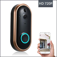 KKmoon Smart WIFI 720P Security Doorbell with Visual Recording Night Vision PIR Motion Detection Low Power Consumption Phone APP Remote Home MonitoringTF Card&Battery are Not Included,Gray