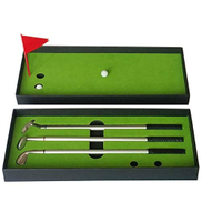 AFANG Golf Mini Putting Mat Court Push Rod Trainer, Size:24.5x10.5x3.5cm