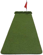 MNJKL Golf Putting Mats for Home Use, with Auto Ball Return Hitting Mats Synthetic Fake Grass for Indoor Outdoor Putting Practice,Green
