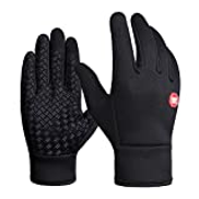 TRDyj Warm Gloves, Men Women Windproof Touch Screen Cycling Gloves, Winter Professional Ski Gloves, Full Finger Gloves Snow Skiing Snowboard Gloves Size : M