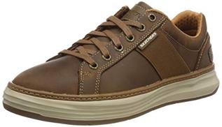 Skechers Men's Moreno- Winsor Sneakers, Brown Dark Brown Cdb, 7.5 UK