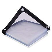 الأقمشة الشفافة ZGQA-GQA - القماش المشمع شديد التحمل - القماش المشمع السميك المقاوم للماء ، والمقاوم للأشعة فوق البنفسجية ، والعفن ، والتمزق والدموع ، الحجم: 3 م × 3 م