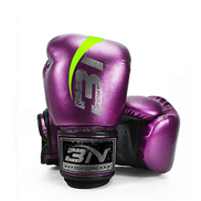 Jingya Boxing Gloves for Professional boxing equipment - Durable Knuckle Protection w Wrist Support for Boxing MMA Muay Thai or Fighting Sports Training,Purple,12OZ