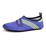 WATERQSTAR Pool Shoes Athletic Water Sports Shoes Barefoot Quick-Dry Aqua Yoga Socks Slip-on Outdoor Barefoot Aqua Sports Shoes Color : Purple, Size : US9.5
