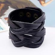 ADYOGER Leather Wristband Punk Leather Bracelet Ladies Men'S Multi-Layer Woven Charm Bracelet Retro Handmade Jewelry Jewelry