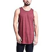 Starryflashingmen t-shirt Women O-neck Sleeveless Tank Tops, Male Casual Basic Solid Long Length Curved Hem Tank Vest Top Sleeveless Shirts