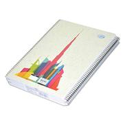 5-Piece FIS Burj Khalifa Spiral Note Book, 8mm Single Line, 70 Sheets, 70 GSM, A4 Size - FSNBA41901