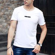Eslan Men's Fashion Letter Printing Short Sleeve Shirt Casual T-Shirt Blouse Tops
