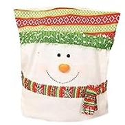 Home Decor CHENGZ Christmas Santa Claus Chair Back Cover Snowman Hat Dinner Table Party Decor