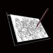 ZIOFBN Graphics Drawing Tablet with Battery-Free Stylu Sunzimeng A4 Size 5W 5V LED Three Level of Brightness Dimmable Acrylic Copy Boards for Anime Sketch Drawing Sketchpad, with USB Cable & Plug, Size220x3
