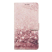 Mylne for Samsung Galaxy J4 Plus 2018 Marble Wallet Case,PU Leather Flip Case Magnetic Closure Stand Function Folio Cover Shell,Rose Gold