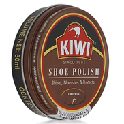 Kiwi Wax Shoe Polish - Brown, 50 ml