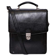 Laveri 1934DBLK Top Handle Bag for Unisex - Leather, Black