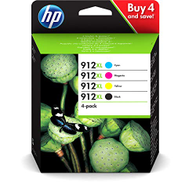 HP 912XL 4-pack Black Cyan Magenta Yellow Original Ink Cartridges