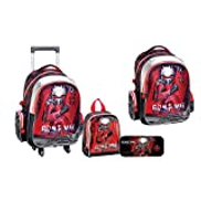 Other Kid's Brave Man 4 In 1 School Trolley Bag Set