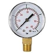 walmeck 50mm 060psi 04bar Pool Filter Water Pressure Dial Hydraulic Pressure Gauge Meter Manometer 1 4