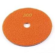 Uxcell 300 Grit Disc Shape Concrete Marble Diamond Polishing Pad, Orange