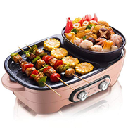 NILINMA Smokeless electric baking pan Grill Indoor/Outdoor Grill BBQ Grill Removable NonStick Grill