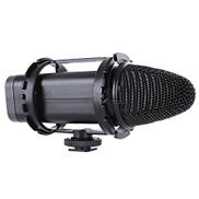 ميكروفون Bower MIC500 احترافي DSLR فيديو HD للبث القلبي بمكثف أسود