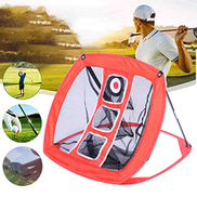 DT Golf Cage Golf Training Nets Foldable Golf Net Practice Driving Hitting Nets Golf Practice Driving Hit Net Cage Training Mat Aid with Cutting Holes