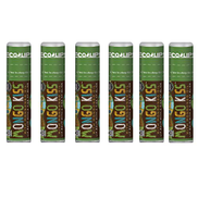 Lip Balm Mongo Kiss 6-Pack 6 Tubes by Eco Lips 100 Organic Beeswax & Cocoa Butter Lip Care with Organic Mongongo Oil - Soothe & Moisturize Dry & Cracked Lips - Made in USA. Peppermint