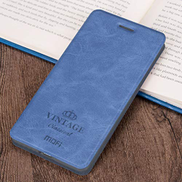 Crazy Horse Texture Horizontal Flip PU Leather Case for iPhone XR, with Holder & Card Slot Khouses Color : Blue