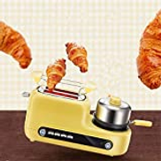 Jueven Toaster, 5in1 Toaster, Egg Pot and 2 Toaster, Mini Frying Pan, Steamer, Wide Slot, Easy to Control Mode, 1080 W, Home MultiFunction Breakfast Machine