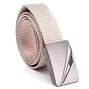 VITML Unisex Belt Fashion Hollow Alloy Press Buckle Training Nylon Men Belt Simple Men And Women Casual Belt