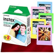Fujifilm instax Square Instant Film 20 Exposures for SQ6، SP-3، SQ20 + FiberTique Cleaning Cloth