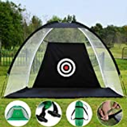 DT Portable Golf Net Golf Net Practice Cage Driving Hitting Training Aid Net Foldable for Backyard Portable Driving Range Golf Cage Training Aids,200 140 100cm
