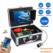 XIAODONGDONG 7 Inch Color 50M 1000tvl Underwater Fishing Kit HD Wifi For IOS Android APP Supports Video Record and Take Photo