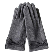 Women's fashion gloves thick warm gloves outdoor riding gloves driving cold gloves XHyinggqaq Color : Gray, Size : One size