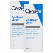 CeraVe Eye Repair Cream 2 Pack 0.5 Ounce each Eye Cream for Dark Circles and Puffiness Fragrance Free