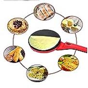 SHAAO Pancake Maker, Electric Round Non-Stick Pancake Crepe Maker Kitchen Frying Pan Roll Cake Machine