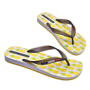 JIALANG Summer Casual Slippers Men's Fashion Non-slip Flat Slippers Simple Outdoor Beach Slippers and Sandals Color : Yellow mens, Size : 43