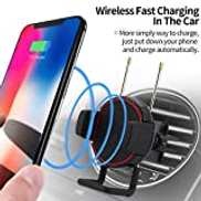 Hfjkd LI-CHARGE 15W Car Charger Wireless Usb C, Car Charger Air Vent Clip 360Rotating Phone Mount Clamping Support Wireless Charge Mobile Phone