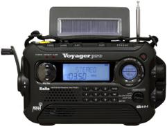 Kaito Voyager Pro KA600 Digital Solar Dynamo Crank Wind Wind AM AM FM LW SW & NOAA Radio Emergency Emergency Radio with Alert & RDS، Flashlight and Reading Lamp + Smart Phone Charger، Black
