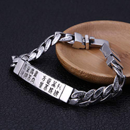 WZZNB Men'S Sterling Silver Bangles sterling silver bracelet men's retro punk fashion hand-woven bracelet bracelet men's jewelry charm men bracelet