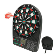 DPPAN Countertop Desktop Electronic Dartboard, LCD Display 18 Games 159 Options include 3 Darts 12 Tips for 8 Players, Battery Supply,Multicolor