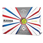 yellow - Callaway Golf Supersoft Magna Golf Balls - Yellow - Dozen