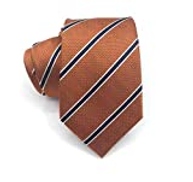 Zimruh Brown and Blue Strip Tie for Man