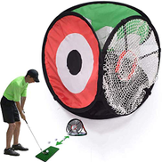 FYBOOR Pop Up 3-Sided Golf Target, Golf Chipping & Practice Net, Collapsible Golf Accessories, Practice Lob, Pitch, Chip, Drive & Running Shots, Indoor Outdoor