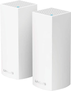 Linksys Velop Tri-band Whole Home WiFi Mesh System, (PACK OF 2) WHW0302-ME, White WHW0302
