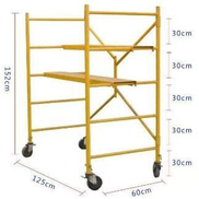 Mini Mobile Steel Scaffolding With 2 Non Slip 200Kg Capacity Platforms