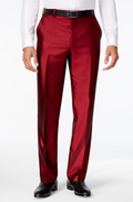 INC International Concepts Mens Shiny Pants, Burgundy